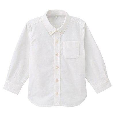 洗いざらしシャツ ベビー80・オフ白