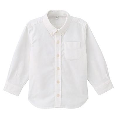 洗いざらしシャツ ベビー100・オフ白