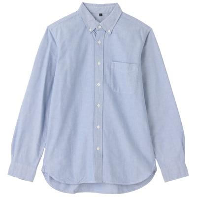 オーガニックコットンオックスフォードボタンダウンシャツ(イージータイプ) 紳士S・ブルー