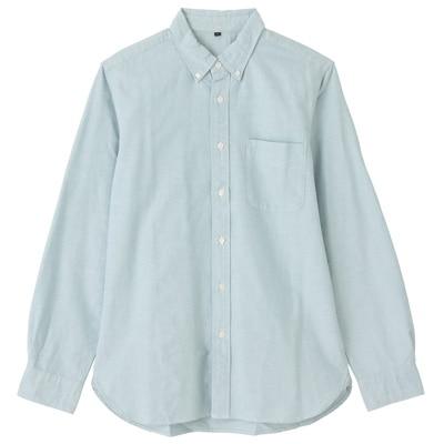 オーガニックコットンオックスフォードボタンダウンシャツ(イージータイプ) 紳士XL・ライムグリーン