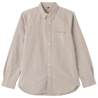 オーガニックコットンオックスフォードボタンダウンシャツ(イージータイプ) 紳士L・ココナッツブラウン