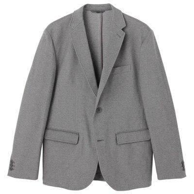 ダブルジャージージャケット 紳士S・チャコールグレー