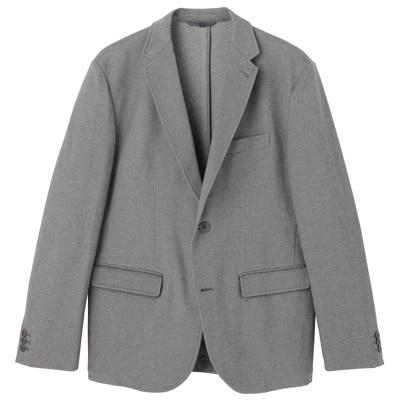 ダブルジャージージャケット 紳士XL・チャコールグレー