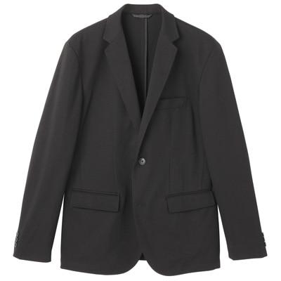 ダブルジャージージャケット 紳士L・黒