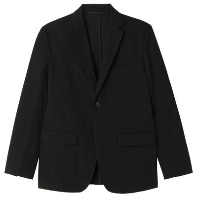 ダブルジャージーツイルジャケット 紳士L・黒