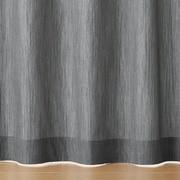 綿デニムプリーツカーテン/ネイビーストライプ/幅100×丈105cmの商品画像