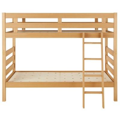 オーク材2段ベッド/幅87.5×奥行204×高さ157.5の写真