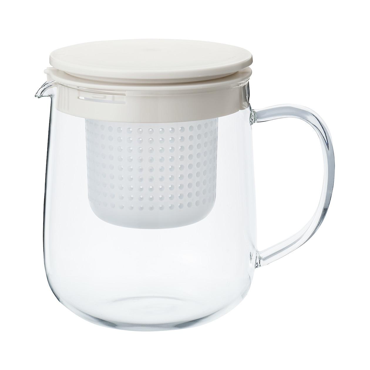HEAT PROOF GLASS POT L APPROX. 1L | MUJI