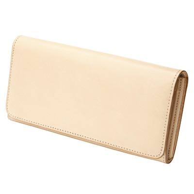 ヌメ革かぶせ長財布