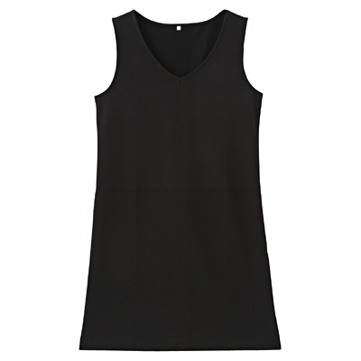 綿混ストレッチジャンパースカート 婦人M・黒