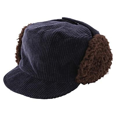 裏ボア使い耳あて付き帽子 50cm・ネイビー