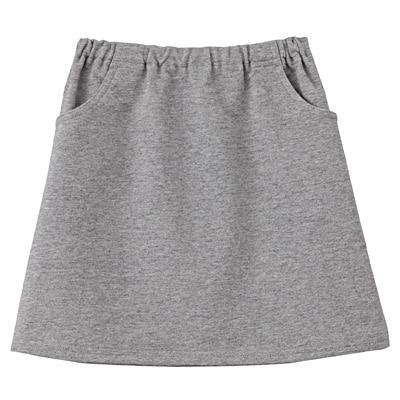 毎日のこども服スカート キッズ110・グレー