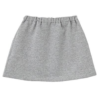 毎日のこども服スカート ベビー100・グレー