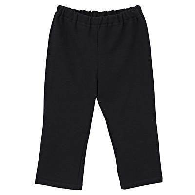 毎日のこども服ストレートパンツ ベビー80・黒