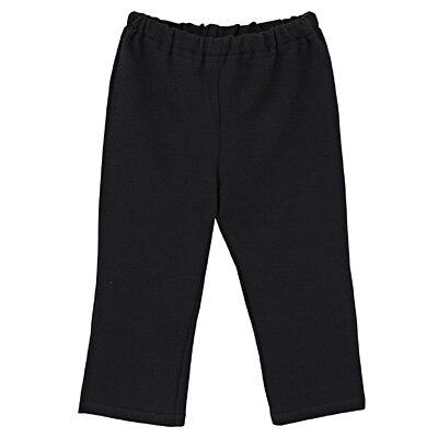 毎日のこども服ストレートパンツ ベビー100・黒