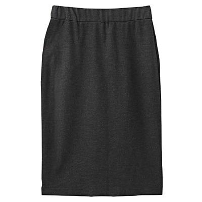 【店舗限定】ポンチひざ丈タイトスカート 婦人61・グレー