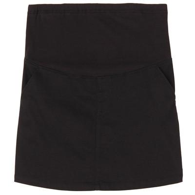 オーガニックコットン混スーパーストレッチスカート マタニティM~L・黒