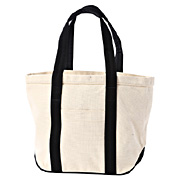 Cttn Canvas Tote Raw Wht Pttn