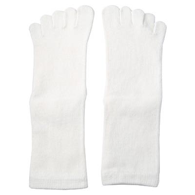 足なり直角5本指くつした(キッズ) キッズ17~19cm・オフ白