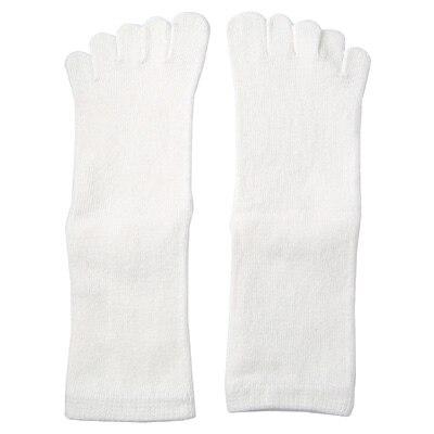足なり直角5本指くつした(キッズ) 21~23cm・オフ白