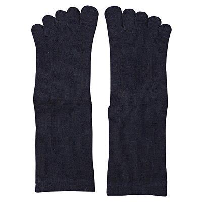 足なり直角5本指くつした(キッズ) キッズ15~17cm・ネイビー