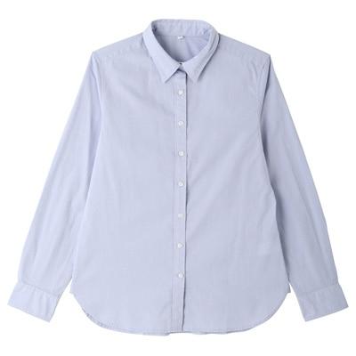 オーガニックコットン洗いざらしブロードシャツ 婦人M・ライトブルー