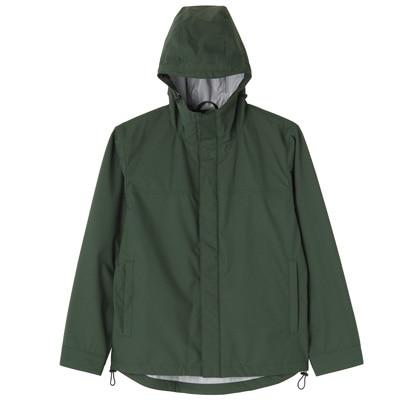 Hooded Blouson: Dark Green