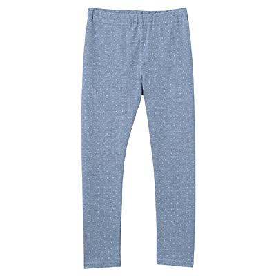 毎日のこども服十分丈レギンス キッズ110・ブルー×柄
