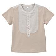 Des For Comfort Cttn Linen Hlf Slv Bl Lght Blue Kids 110
