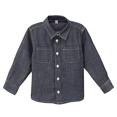 デニムシャツ ベビー90・ネイビー