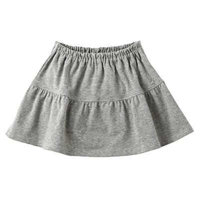 カットソーブルマ付きスカート ベビー80・グレー