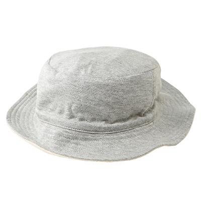 裏パイル帽子 新生児・グレー