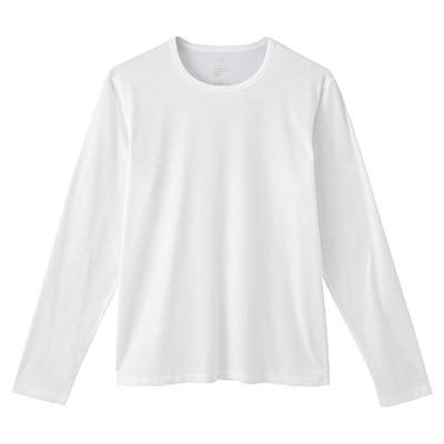 オーガニックコットン天竺長袖Tシャツ 紳士XL・オフ白