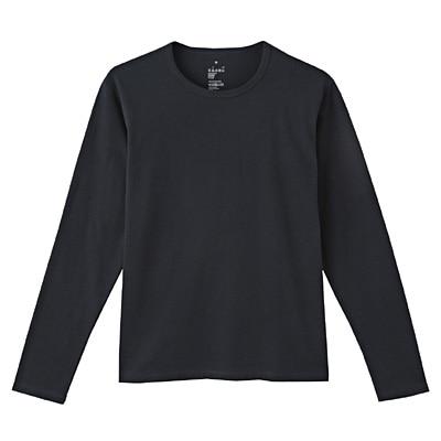 オーガニックコットン天竺長袖Tシャツ 紳士XL・ダークネイビー