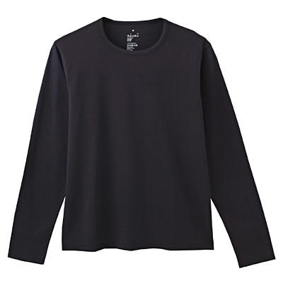 オーガニックコットン天竺長袖Tシャツ 紳士S・黒