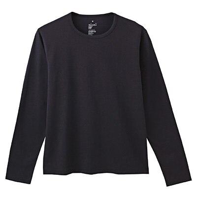 オーガニックコットン天竺長袖Tシャツ 紳士L・黒