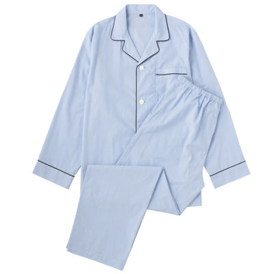 オーガニックコットンブロードパジャマ(長袖・ロング)