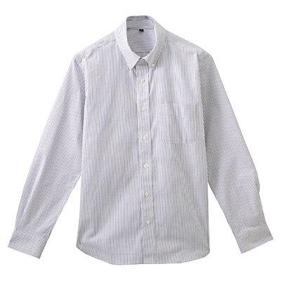 ストレッチオックスストライプボタンダウンシャツ 紳士L・赤