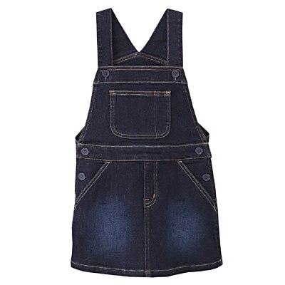 ストレッチデニムサロペットスカート キッズ140・ネイビー