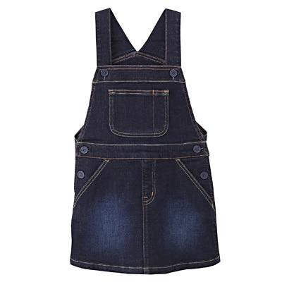 ストレッチデニムサロペットスカート キッズ150・ネイビー