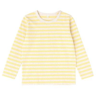 毎日のこども服しましま長袖Tシャツ キッズ120・レモン×ボーダー
