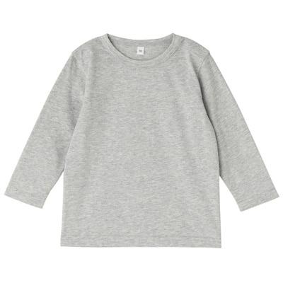 毎日のこども服長袖Tシャツ ベビー80・グレー