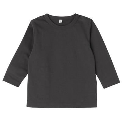 毎日のこども服長袖Tシャツ ベビー80・チャコールグレー