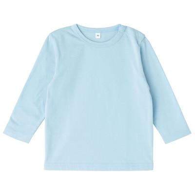 毎日のこども服長袖Tシャツ ベビー80・ベビーブルー