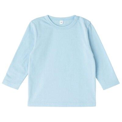 毎日のこども服長袖Tシャツ ベビー100・ベビーブルー