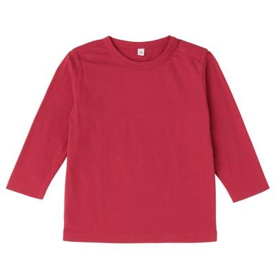 毎日のこども服長袖Tシャツ ベビー100・赤