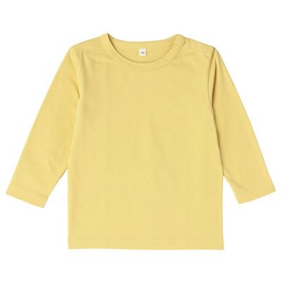 毎日のこども服長袖Tシャツ ベビー80・レモン