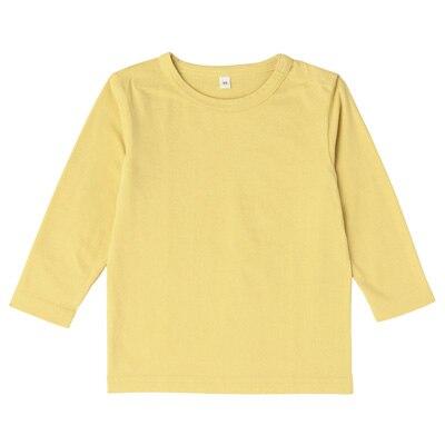 毎日のこども服長袖Tシャツ ベビー90・レモン