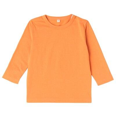 毎日のこども服長袖Tシャツ ベビー80・オレンジ