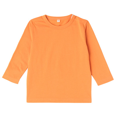 毎日のこども服長袖Tシャツ ベビー100・オレンジ